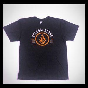 New Mens Volcom Stone Est 91 T-Shirt Grey Size L